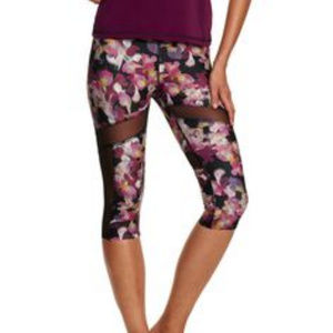 HOLLIE WATMAN Contour Mesh capri workout leggings
